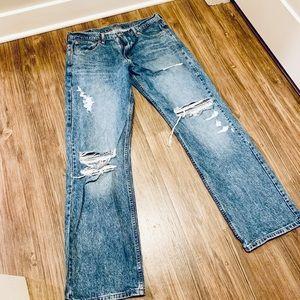 Men's Levi's 569 Distressed Denim Jeans 32X34